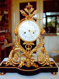 French ormolu and marble clock restoration